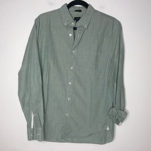 J. Crew Slim Mens Green Slim Button Down Shirt